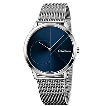 Calvin Klein Minimal Stainless Steel Blue Dial Mens Watch K3M2112N 40mm