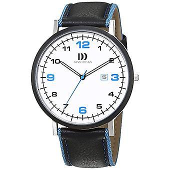Dänisches Design Leder Quarzarmbanduhr 3314478