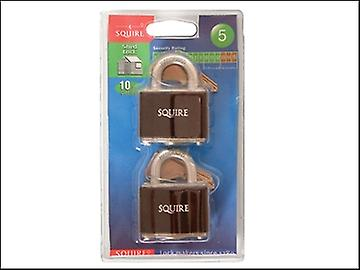 Henry Squire 35T Stronglock Card (2) Padlocks 38mm  Open Shackle Keyed