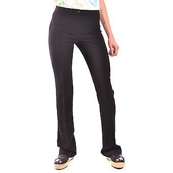 Pantalones de acetato negro Moschino