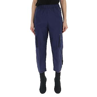 Semi-couture Blue Cotton Pants