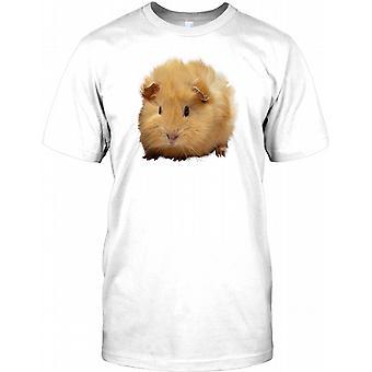 Liebenswert flaumig Haustier Meerschweinchen-T-Shirt für Herren