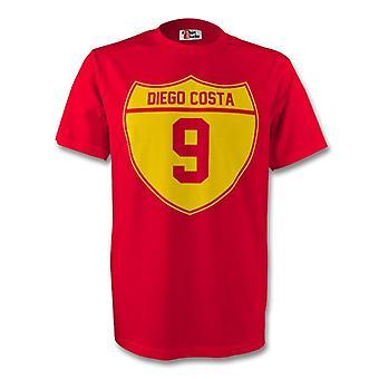 Diego Costa Hiszpania Crest Tee (czerwony)