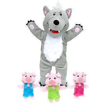 Big Bad Wolf & 3 Little Pigs Tellatale Hand Puppet