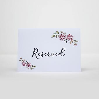 Reserved Wedding Card Set of 4 RESERVED signs Boho Wedding A6 Size Event