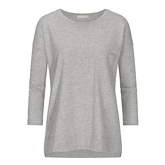 Mey Women 16806-439 Women's Night2Day Demi Grey Melange Cotton 3/4 Sleeve Top