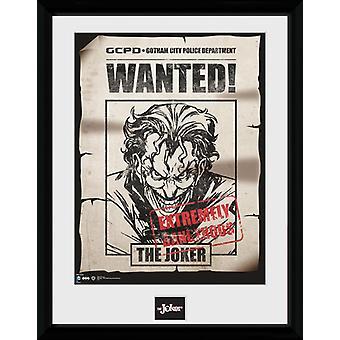 Batman Comic Joker gezocht ingelijst Collector Print 40x30cm
