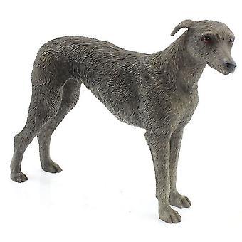 Grey Lurcher Figurine