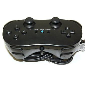 Classic pro controller for nintendo wii remote wireless joypad gamepad - black