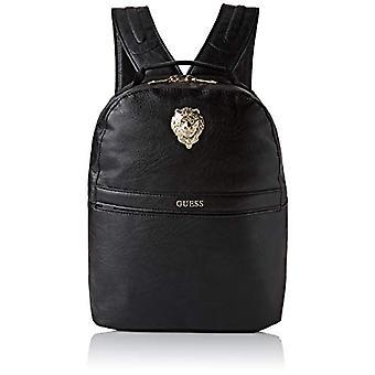 Guess City Lion Compact Backpack - Men's Backpack - Multicolor (Black/Gold) - 16x39.5x30.5 cm (W x H x L)