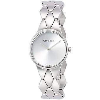 Calvin Klein ladies Quartz analogue watch with stainless steel band K6E23146