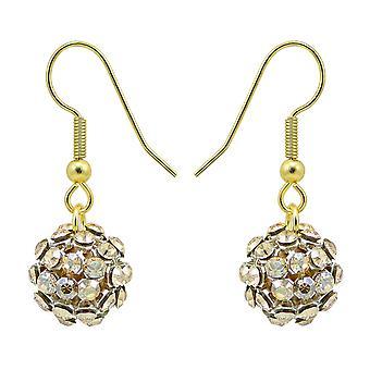 Crystal Mesh Ball Earrings EMB112.7