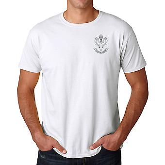 The Queens Own Highlanders Embroidered Logo - Official British Army Cotton T Shirt