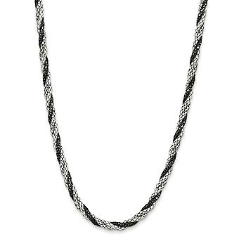 Sterling Silver Fancy 18 Inch Necklace - 9.7 Grams - 18 Inch