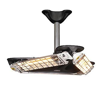FIORE Triangolo 3600 halogen infrared ceiling heater IP65
