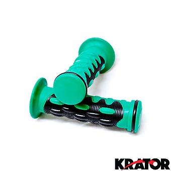 Green Motorcycle Rubber Hand Grips 7/8