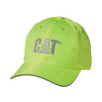 Caterpillar C1128101 HI VIS Unisex Cap Cool CAT Logo Headwear Silver Lining New