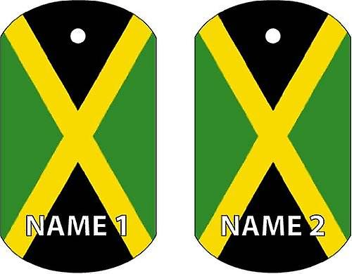 Personalised Jamaica Dog Tag Car Air Freshener