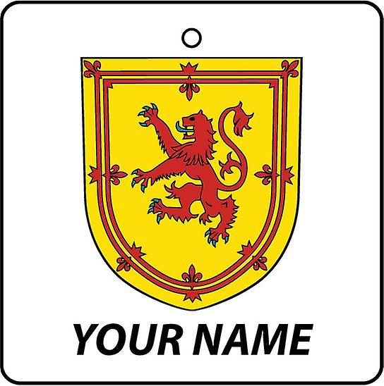 Personalised Scotland Coat Of Arms Car Air Freshener