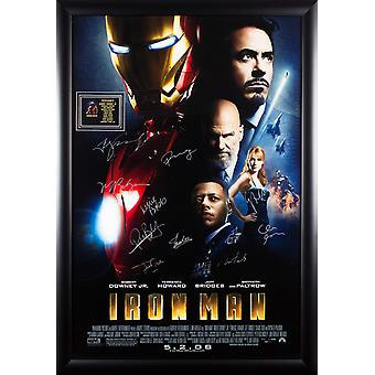 Iron Man - affiche du film signée Cast