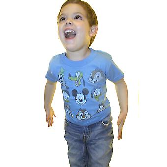 Disney Mickey Mouse And Pals Faces Kid's blauw T-shirt