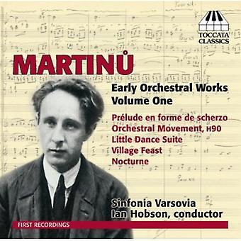 B. Martinu - Martinu: Tidlig orkesterværker, Vol. 1 [CD] USA import