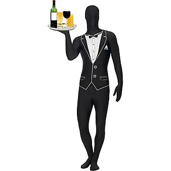 Second skin costume waiter suit Stretchanzug pantomime