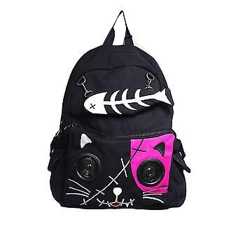 Forbudt kat rygsæk med indbygget højttalere