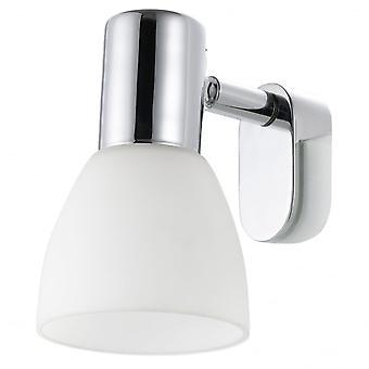 Eglo etiqueta 1 espejo moderno luz luz blanca escarchada cristal Sha