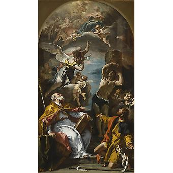 Sebastiano Ricci - A Glory of the Virgin Poster Print Giclee