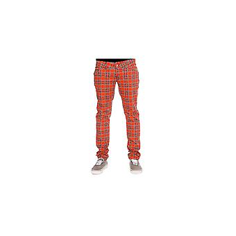 Run & Fly Tartan Stretch Jeans