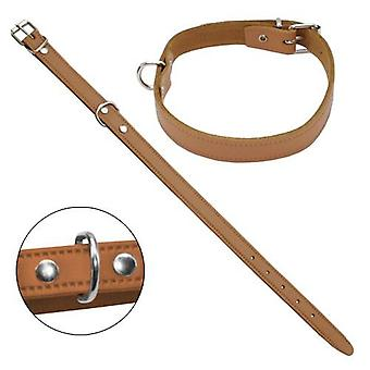 Petpall Collar Cuero Liso 27 Cm Natural (Dogs , Walking Accessories , Collars)