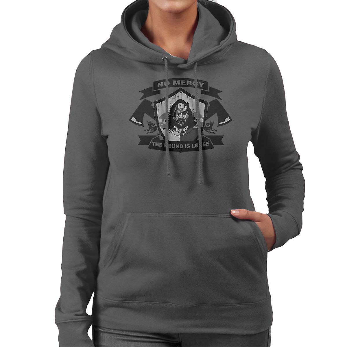 No Mercy The Hound Is Loose Sandor Clegane Game Of Thrones Women's Hooded Sweatshirt