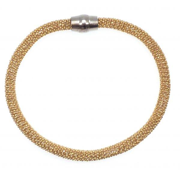 W.A.T Sterling Silver Gold Plated Sparkle Magnet Bracelet