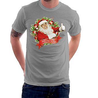 Camiseta Nicolas Cage Navidad alegre viejo San Nic hombres