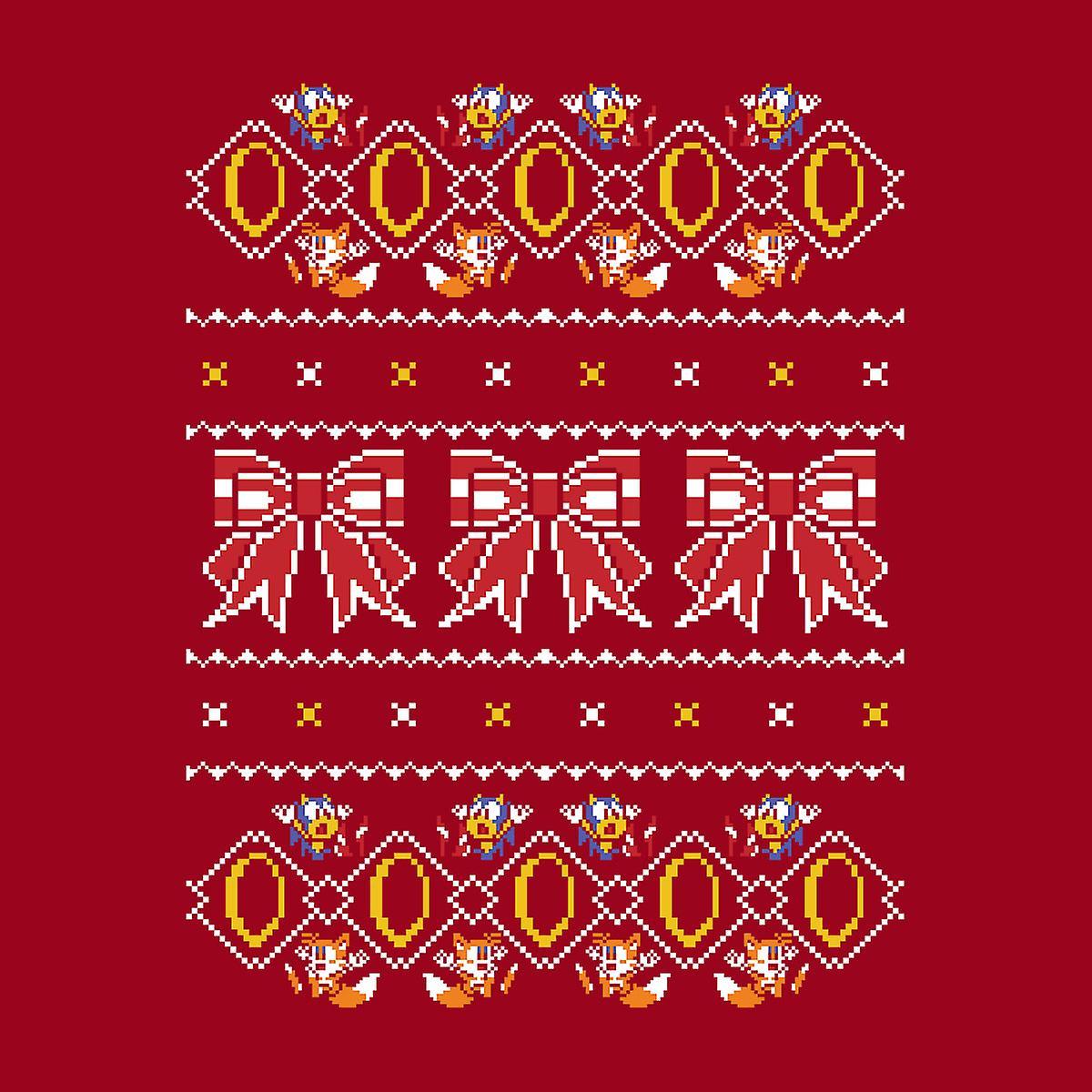 Sonic Hedgehog fünf Goldringe Weihnachten Stricken Muster Damen ...