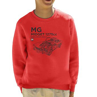 Haynes Workshop handmatige MG Midget 1275cc zwart Kid's Sweatshirt
