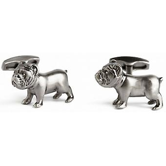 Simon Carter Pursuits Bulldog Boutons de manchette - Argent