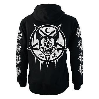 Mickey 666  Mens Hooded Zipup Sweater