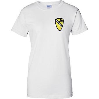 Vietnam Patch Effect - US Army 1st Cavalry - Ladies Chest Design T-Shirt