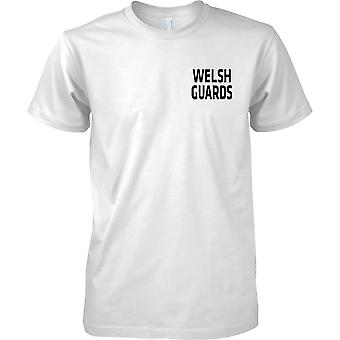 Licensed MOD - British Army Welsh Guards - Text - Mens Chest Design T-Shirt