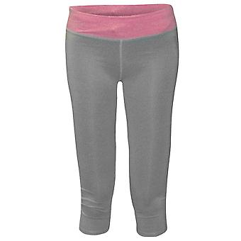 Bad Girl Capri Tights - Charcoal Marl/Pink Marl
