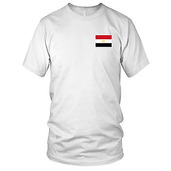 Egypt Country National Flag - Embroidered Logo - 100% Cotton T-Shirt Ladies T Shirt