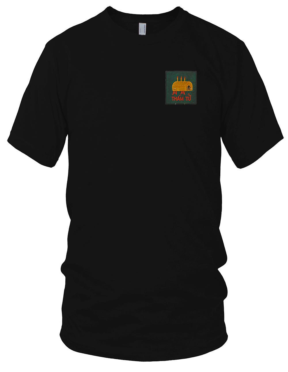 ARVN THAM TU Grenze Beerdigungen MACV MIKE FORCE - Vietnamkrieg gestickt Patch - Herren-T-Shirt
