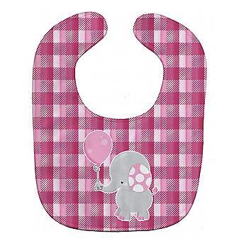 Carolines schatten BB6948BIB olifant met roze ballon Baby slabbetje