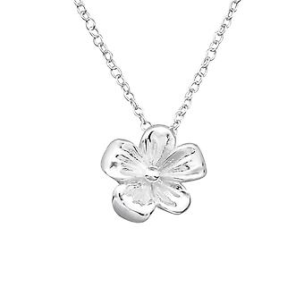 Flower - 925 Sterling Silver Plain Necklaces - W19512x