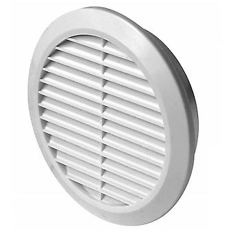 Wall Ventilation Grille Cover with Anti Insect Net 100-150mm Adjustable Diameter