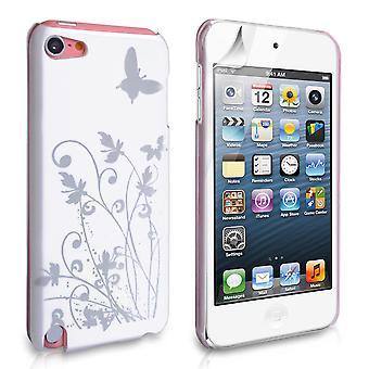 Guarde acessórios Ipod Touch 5g borboleta IMD caso difícil - branco