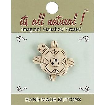 Handmade Bone Buttons-Happy Turtle 2