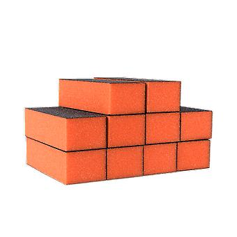 The Edge Nails Orange Sanding Block 100/180 Grit (10 Pack)